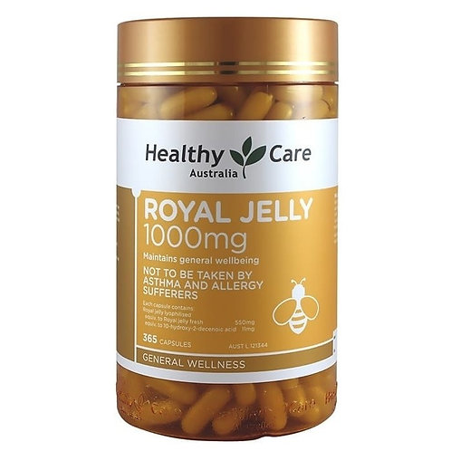 Healthy Care Royal Jelly 1000mg 365 Capsules
