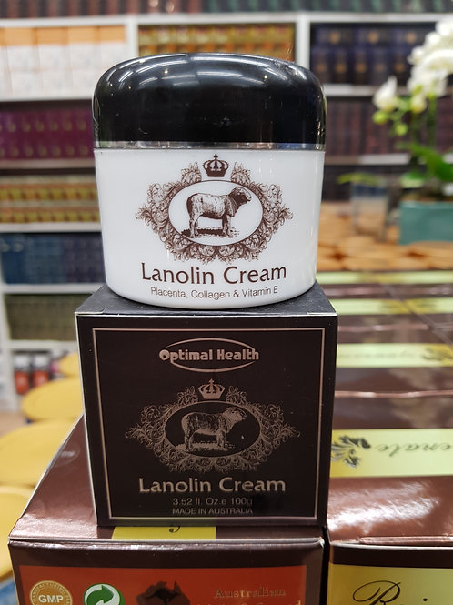 Optimal Health Lanolin Cream 100g Placenta Collagen Vitamin E Beauty Australia