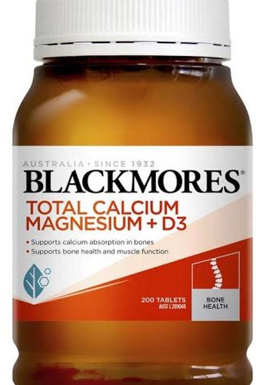 Blackmores Total Calcium Magnesium + D3, 200s