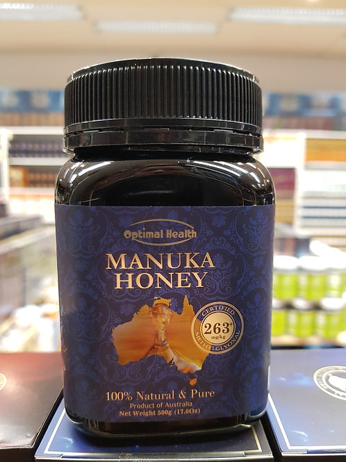 Optimal Health Manuka Honey 500g Certified MGO 263+ GMP HACCP Australia Premium