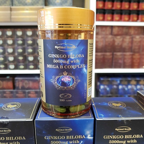 Optimal Health Ginkgo Biloba 5000mg Mega B Complex Health VitaminB TGA Australia