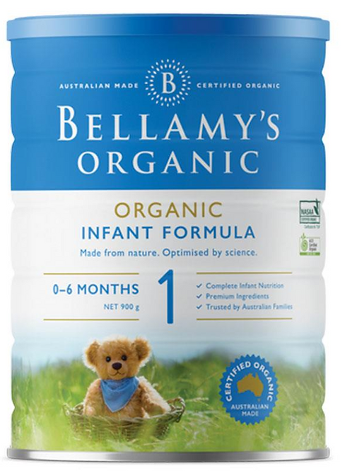 Bellamy's Organic Infant Formula Step 1 900g Stage 1