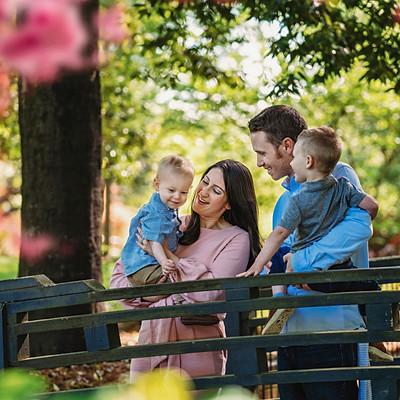 Spring Family Session at GlenCairn Garden