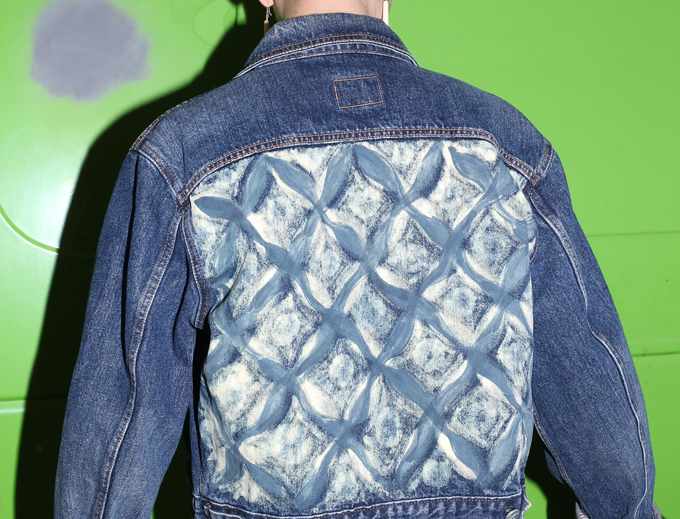 Handpainted Indigo Deep Waters Sight Jacket