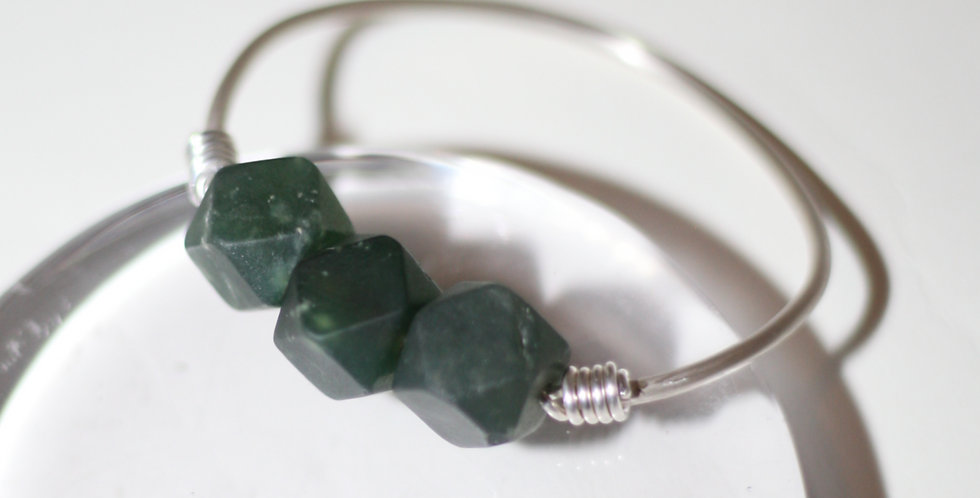 Deep Waters Jade Bangle