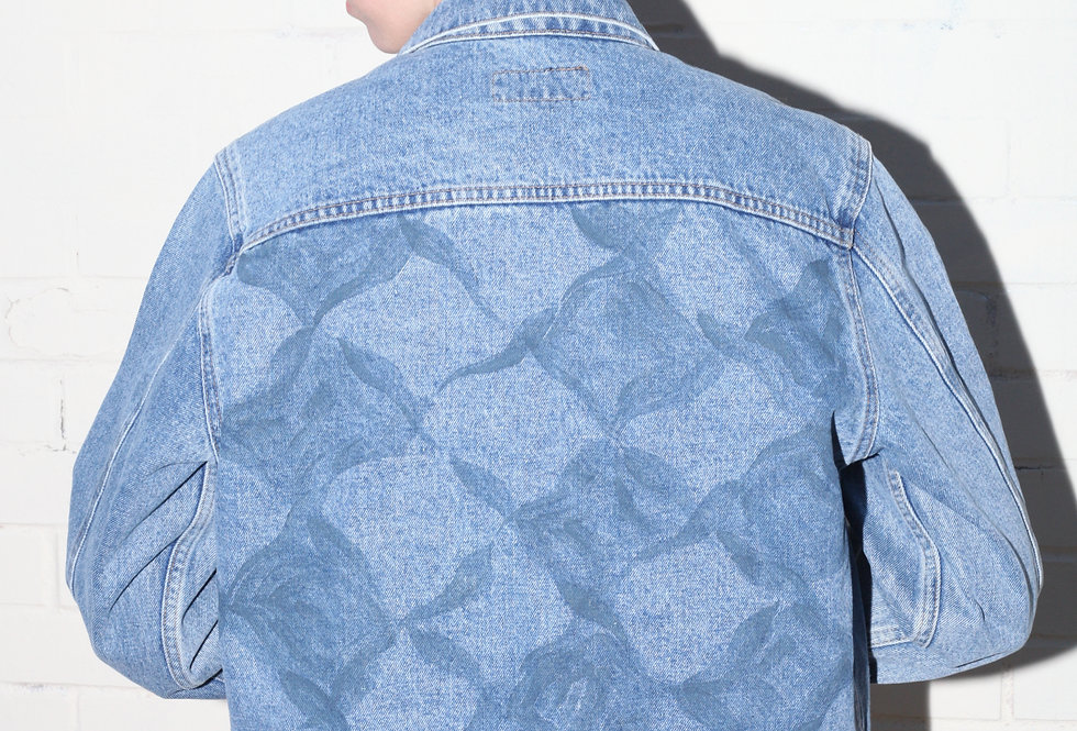 Handpainted Indigo Deep Waters Reflection Jacket
