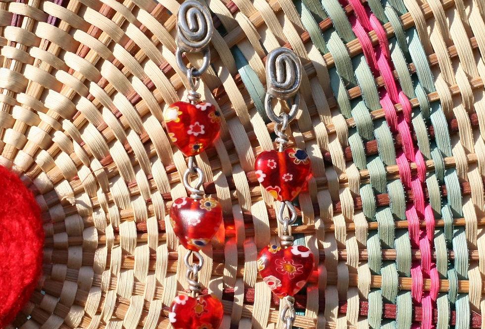 Spiraling Hearts Earrings