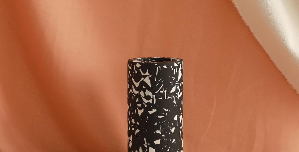 Black Rafa Terrazzo Vase