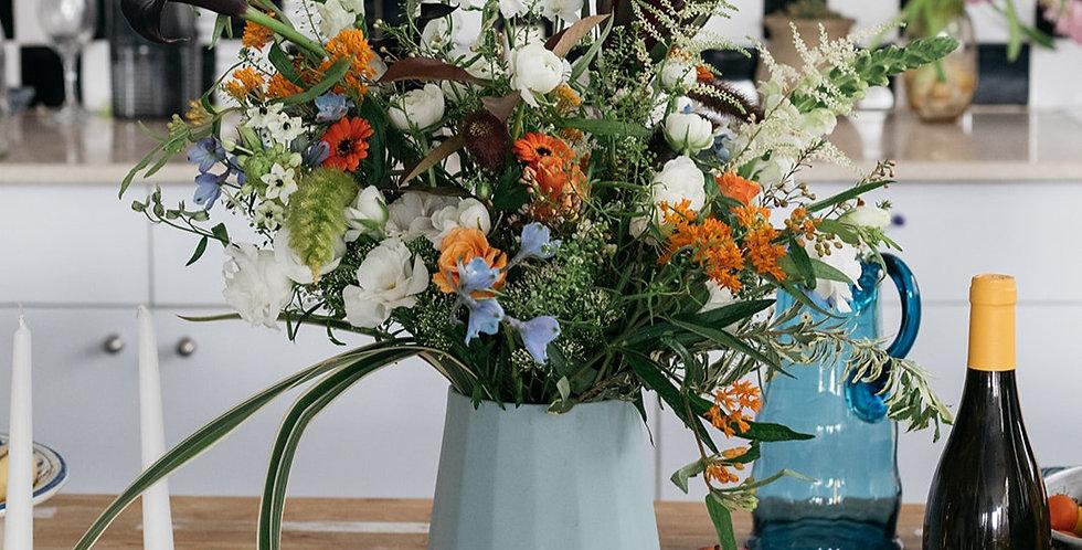 פרחים ויין - השילוב המושלם