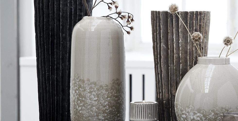 Clary Vase Smoked Grey