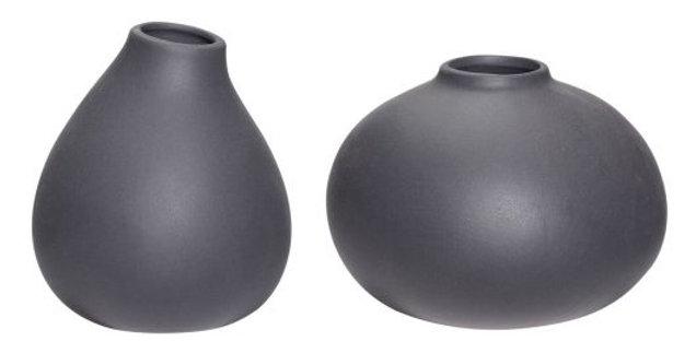 Vase Ceramic Grey Set