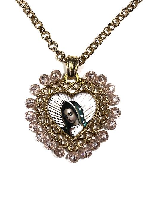 Medalla Corazón Virgen de Guadalupe