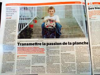 Transmettre la passion de la planche - Article in Journal de Montréal