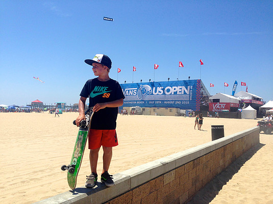 Liam is an avid competitor touring GROM events.