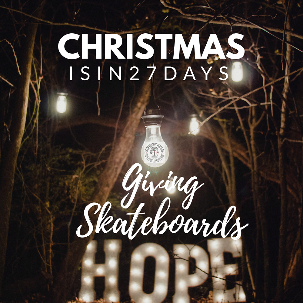 Donate skateboards, helmets or funds for XMAS.