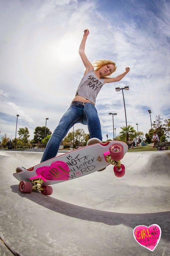Skate RAT. Girl is Not a 4 Letter Word.