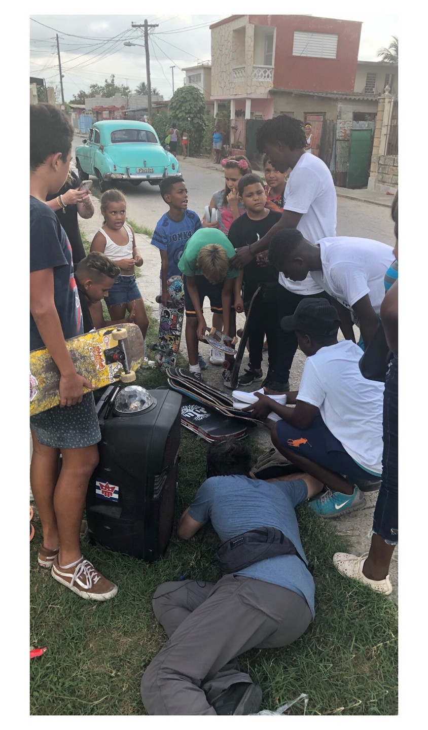 Giving skateboards to Cuban youth