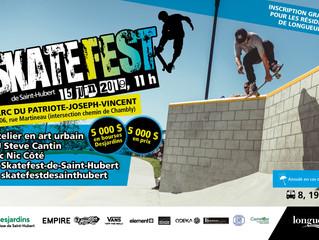 Fêtez avec nous au Skatefest de Saint-Hubert le 15 juin