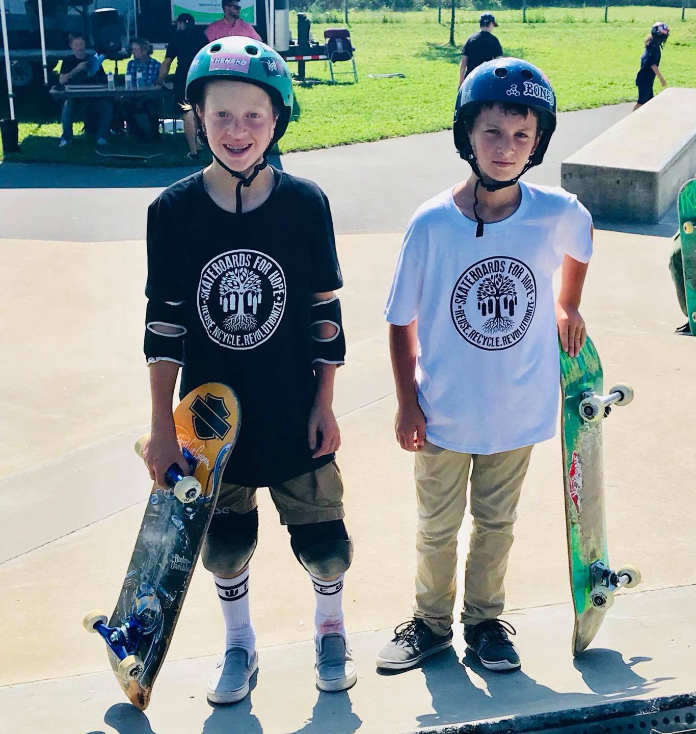 Skateboards For Hope t-shirts