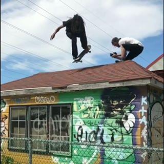 Jessy Jean Bart shredding the roof in Quebec