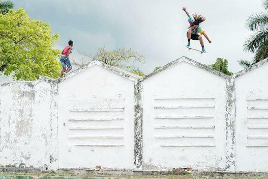 Yojany Perez shredding the roof in Havana, Cuba