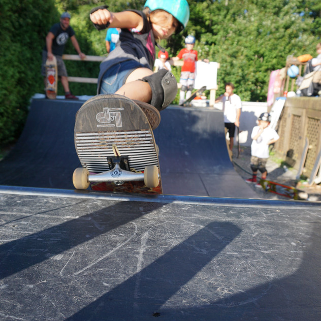 DIY Skatepark in Backyard