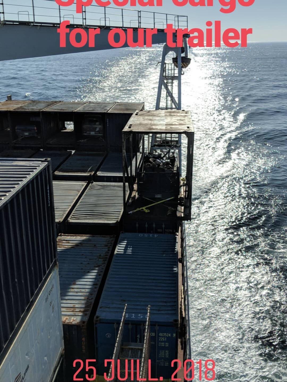 Ship travelling to Pakua Shipi, Innu, Qu