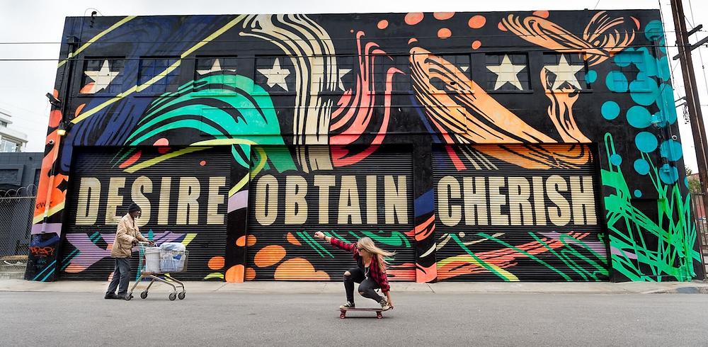 Cindy Whitehead skateboarding at Venice Beach.