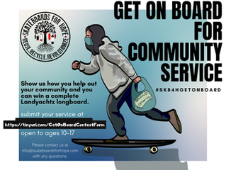 GET ON BOARD FOR COMMUNITY SERVICE