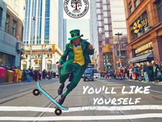 Leap of Sk8 on St.Patrick's Day
