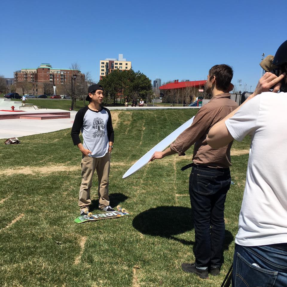 Justin Darrow, First Nations Ambassador of Skateboards For Hope interviewed by Tom Fennario from Aboriginal People's Television Network
