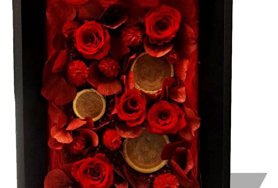 Tableau de fleurs éternelles 18 x 13
