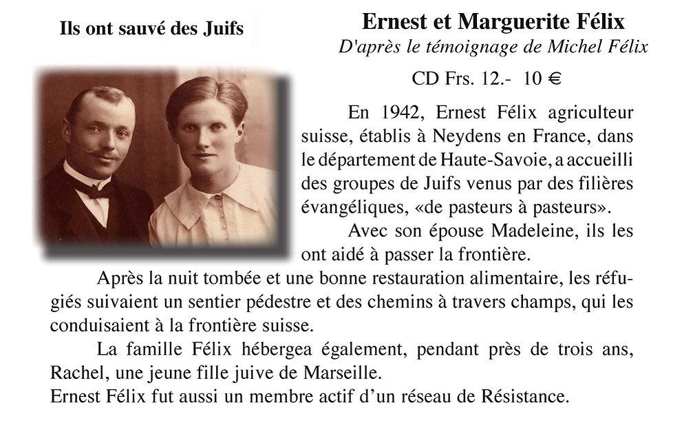 Ernest et Marguerite Félix ils ont sauvé des Juifs