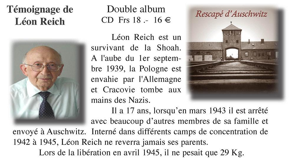 Léon Reich rescapé d'Auschwits