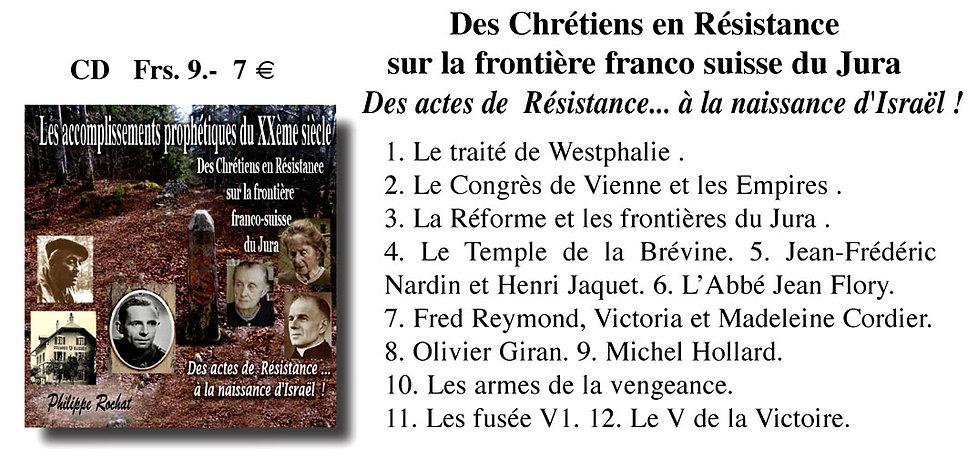 Chrétiens en Résistance frontière franco-suisse