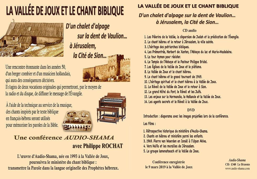 Le chant biblique et la Vallée de Joux
