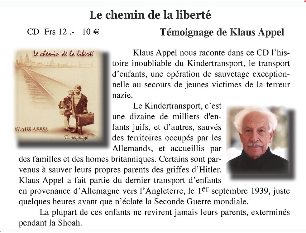 Klaus Apple et le Kindertransport