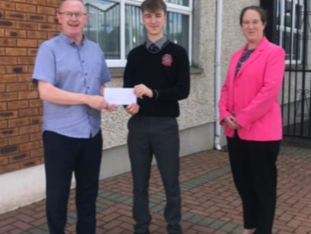 Credit Union Student Bursary awarded to Owen Collins