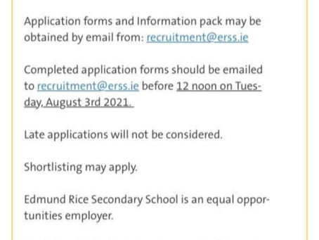Applications open for Principal position