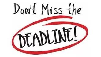 Enrolment deadline - Tomorrow Nov.6th