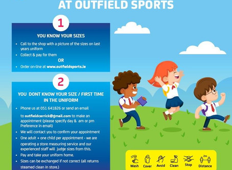 School Uniforms at Outfield Sports
