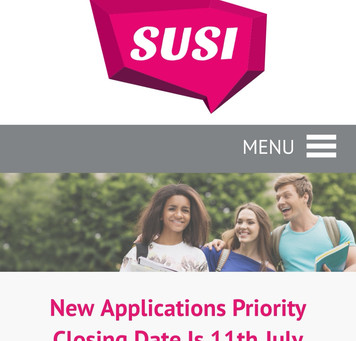 SUSI Grant Applications- 3rd level