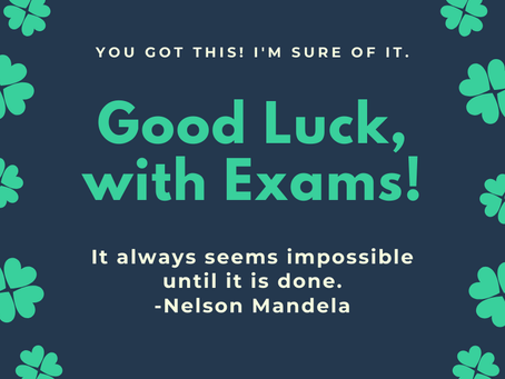 Best wishes to our 6th years sitting exams!