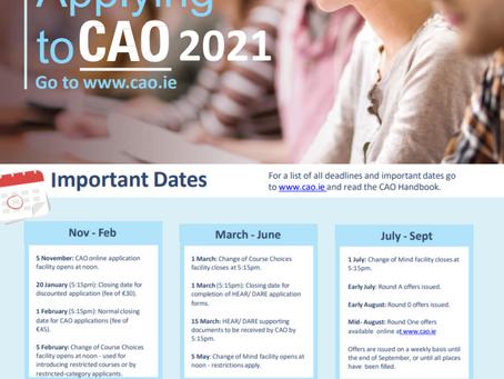 CAO deadline Feb 1st.