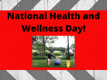 Happy National Health and Fitness Day!