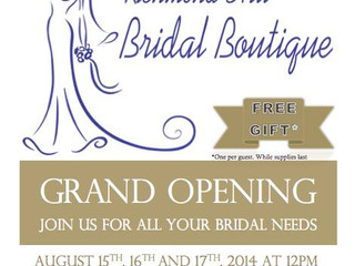 Richmond Hill Bridal Boutique Official GRAND OPENING!