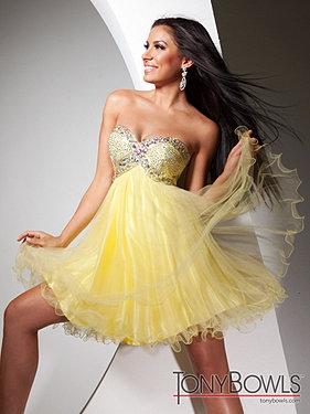 Tony Bowls Yellow Dress