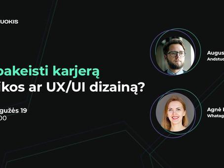 Kaip pakeisti karjerą į grafikos ar UX/UI dizainą?