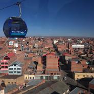 El teleférico, El Alto, Bolivia