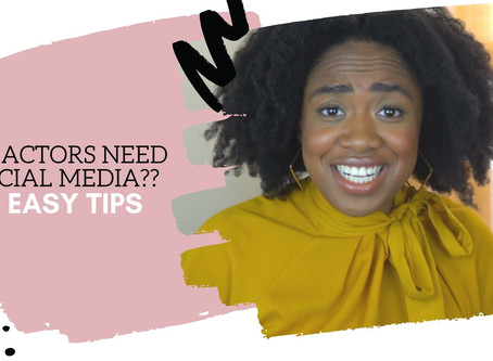 Do Actors Need Social Media - 4 easy tips